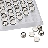 WindMax 100 Pieces LR44 A76 L1154 AG13 357 SR44 G13 1.5V Alkaline Coin Button Cell Battery