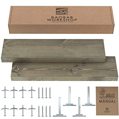 TEN49 Industrial Wood Shelf - 36