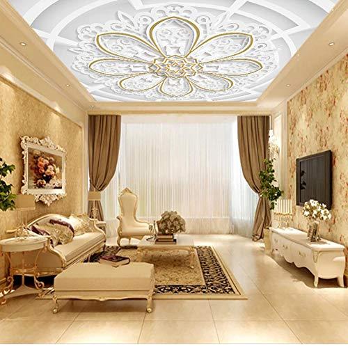 Dalxsh aangepaste 3D foto behang op het plafond 3D stereoscopische bloem abstract plafond muurschildering woonkamer Decor 250x175cm