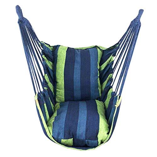 Balançoire Chaise suspendue à rayures à rayures de couleur avec oreiller Toile de berceau chaise hamac à accueil intérieur et extérieur chaise de chaise 51.1x39.3 pouces Siege Suspendu (Color : C)