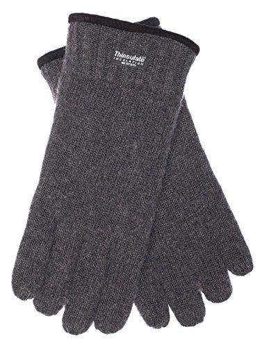 EEM gants en laine FYNN pour hommes, doublure de Thinsulate™, douce à toucher, anthracite L