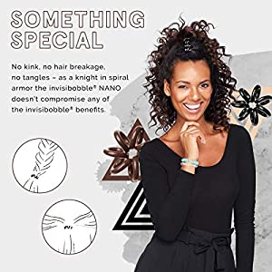 invisibobble Nano Hair Styling Ring with Strong Grip, Hair Accessories for Women – Crystal Clear (Pack of 3)