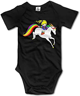 Rainbow Brite Unisex Baby Bodysuit Cotton Short Seleeve Romper Jumpsuits