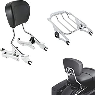 Best 2017 street glide passenger backrest Reviews