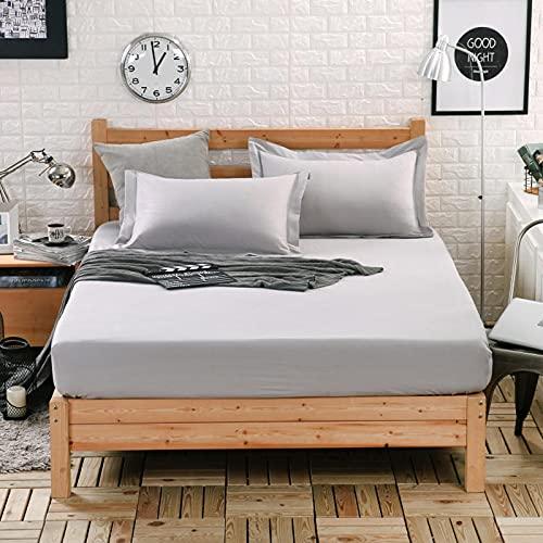 NHhuai Protector de colchón/Cubre colchón Acolchado, Ajustable y antiácaros. Funda Protectora Antideslizante de Colcha de una Pieza