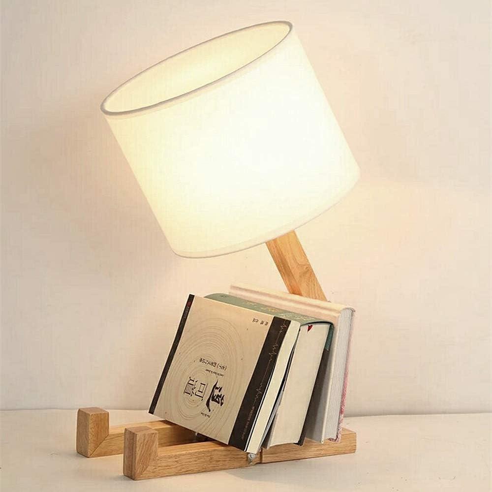 Elinkume®, creativa lampada da scrivania, in legno con paralume in tessuto e27 TB-QBT005-WHO-5611-1634522921