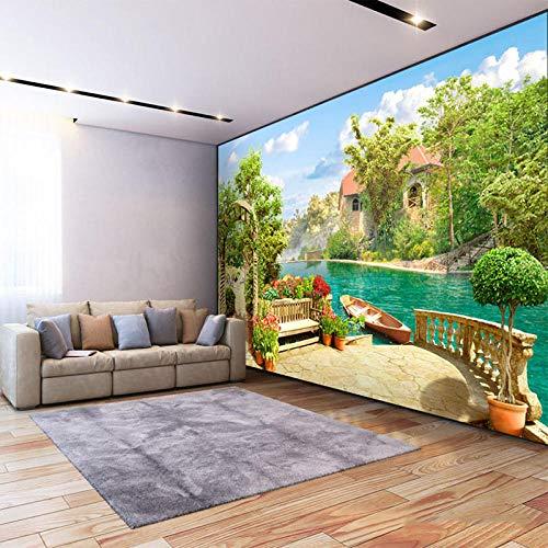 Photo Wallpaper 3D-Garden Lake Scenery Background Wall Mural Living Room Bedroom Restaurant Decor Wall Paper 3D