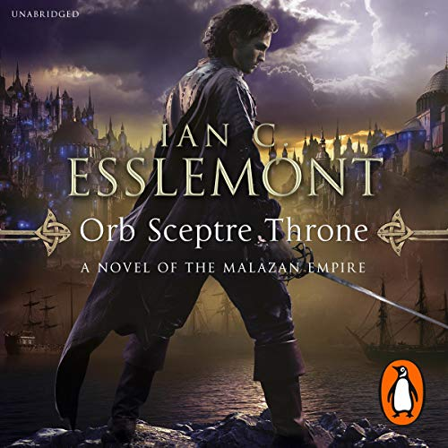 Orb Sceptre Throne audiobook cover art