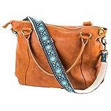 Jacquard Woven Blue Handbag & Purse Strap Replacement Embroidered Guitar Strap Styled Shoulder Bag Strap [並行輸入品]