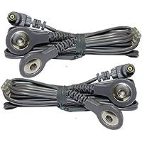 2 cables de conexión de botón - Compatible con TENS EMS VITALCONTROL - SEM 42/43/44/50 y otros - axion
