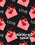 Blank Sheet Music Notebook: Music Notebook   Manuscript Paper 12 Staves   8.5x 11  110 Pages   Gift for Valentine's Day Lovers & Musicians