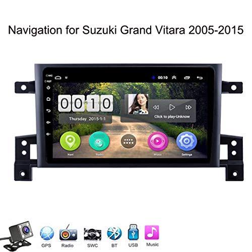 Buladala Android 8.1 Quad Core GPS Autoradio Navigazione Stereo per Suzuki Grand Vitara 2005-2015, con 9'' Touch Screen Supporto Sistemi Video/Chiamate Bluetooth/WLAN USB,WiFi: 1+16gb