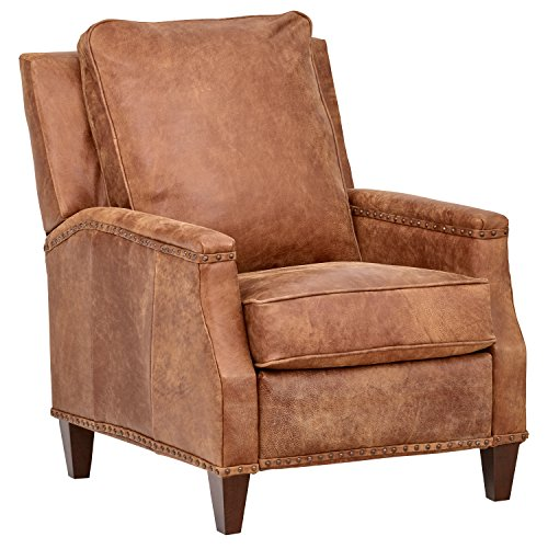 Stone & Beam Marin Studded Leather Recliner, 30'W, Driftwood