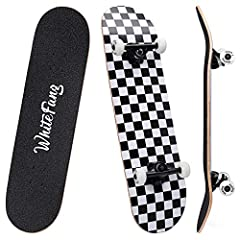 "🛹 Durable & Sturdy: 31.75"" long×7.88"" wide full size double kick concave design with 7 layers hard Canadian maple deck, withstand the impact of skateboarding and learning new tricks. The max load is up to 330 lbs, durable and sturdy. 🛹 Take You a Bet..."