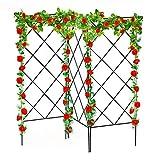 equival 3 pezzi per rankobelisk Rankobelisk Griglia multifunzionale da giardino in metallo robusto supporto per piante rampicanti in acciaio inox per cortile, piante, all'aperto, fiori