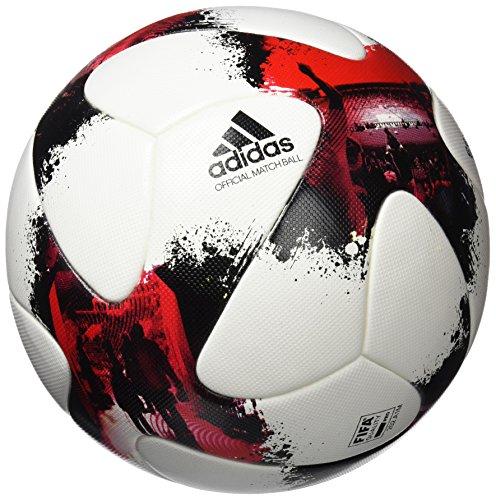 adidas Erwachsene European Qualifier OMB Fußball, White/Solar Red/Black, 5