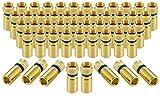 Poppstar 50x SAT F-Quick Mount Stecker, F-Kompressionsstecker für Koaxial-Kabel, Antennenkabel, Satellitenkabel bis 7,5mm,Witterungsbeständig, vergoldet