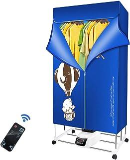 KKTECT Elektrischer Wäschetrockner für zu Hause 1500W-33LB mit negativer Ionenheizung Tragbare Wäschetrocknerheizung Faltbarer Kleiderschrank Digitaler Automatik-Timer für die Fernbedienung
