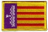 Flaggen Aufnäher Spanien Mallorca Fahne Patch + gratis Aufkleber, Flaggenfritze®