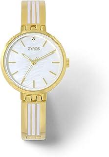 زايروس ساعة يد للنساء، انالوج بعقارب، معدن - ZAA135L010129W