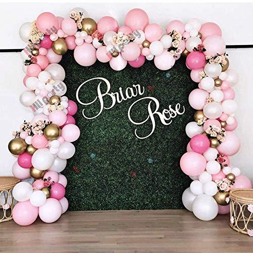 N/F 123 Stück Retro Pink Party Dekoration Luftballons Garland Arch Kit Metallic Gold Ballon Babyparty Kind Geburtstag Dekorationen Hintergrund