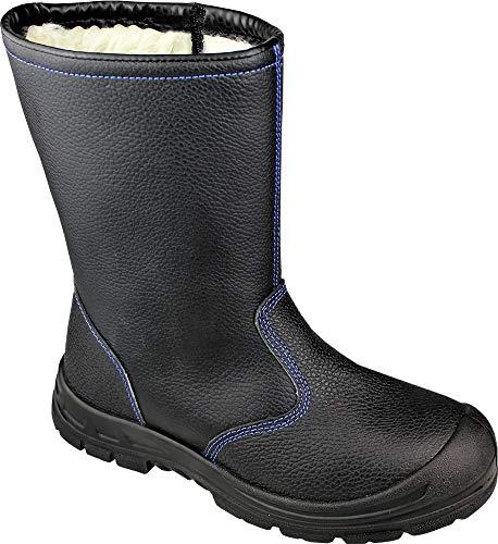 Hase Safety 'Groenland' S3 Sicherheitsschuh - Winter-Schnürstiefel - mit Stahlkappe, Stahlzwischensohle und Webpelzfutter - EN20345 Zertifiziert - Schwarz - Gr. 47