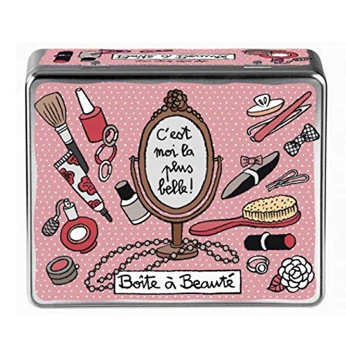 Derriere la porte Scatola Metallo P/Trucco H7cm L 20.5cm Secrets De Beauté