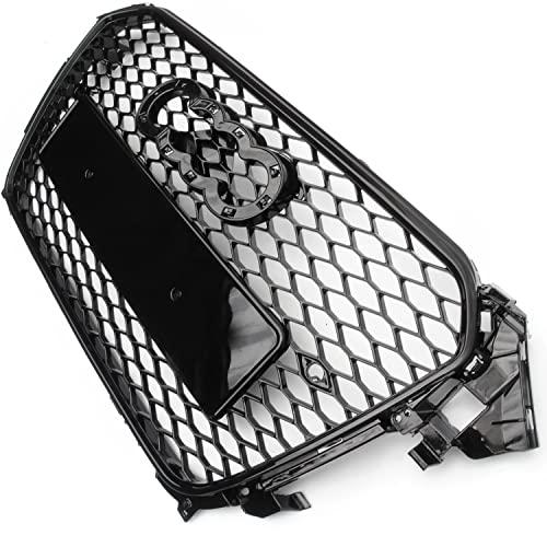 Panel de rejilla delantera del panal del negro brillante del estilo RS4 de las piezas subterráneas