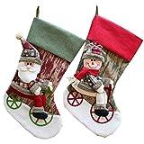 Calcetines de Navidad para mujer, bolsa de regalo de Papá Noel, bolsas de caramelos estéreo, decoración de muñeca, calcetines de Navidad, bolsa de regalo, calcetines, navidad, chimenea, calcetines, accesorios para fiestas (2 unidades)