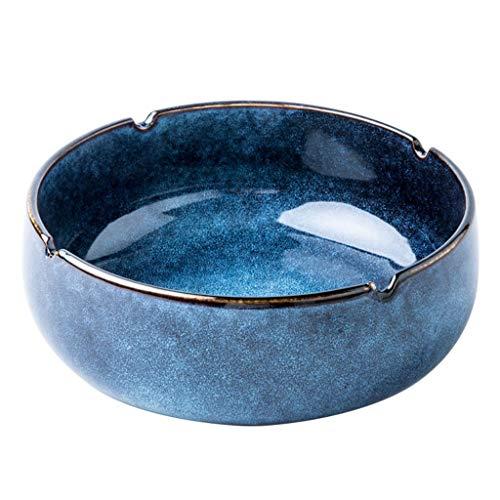 Cenicero De Cerámica Cenicero Grande Creativo Mesa De Centro Retro Europea Decoración Cenicero Multifuncional para Sala De Estar Y Oficina En Casa (Color : Blue, Size : 14 * 7.8 * 20.2cm)
