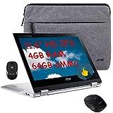 2021 Flagship Acer Spin 2 in 1 Chromebook Laptop 11.6' HD IPS Touchscreen Display MediaTek MT8183C 4GB RAM 64GB eMMC Webcam USB-C WiFi Mouse&Sleeve Chrome OS + iCarp Wireless Mouse (Renewed)