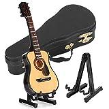 HERCHR Mini Modelo de Guitarra Adornos Artesanía Regalos de Madera, Mini Adornos, Modelo de Instrumento Musical, Manualidades de Regalo, 5.5 x 15cm