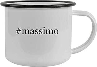 #massimo - 12oz Hashtag Stainless Steel Camping Mug, Black