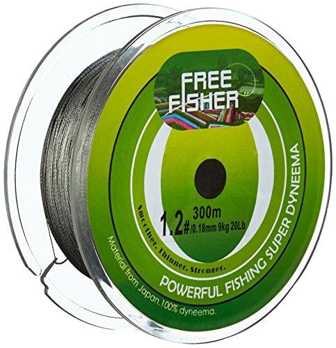 Free Fisher - Hilo de Pesca Trenzado, Gris