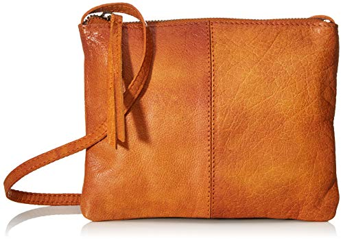 PIECES Damen Pcasta Leather Cross Body Umhängetasche, Braun (Cognac), 2x16x21 cm
