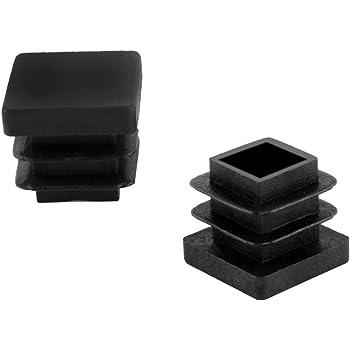 10 pcs Bouchon pour tuyau carr/é 45x45 noir plastique Embout bouchons dobturation