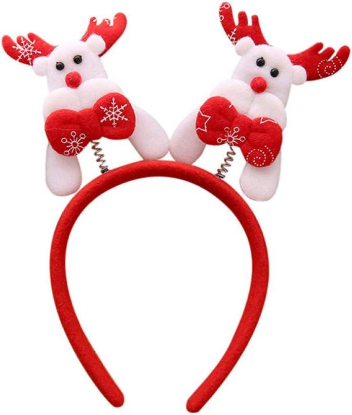 Diadema navide/ña,8 Piezas de Diadema de Navidad Banda de Pelo de Festival Accesorios de Pelo de /Árbol de Navidad Santa para Fiestas de Navidad Mu/ñeco de Nieve