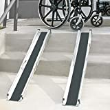 DMI Telescoping Retractable Lightweight Portable Wheelchair Ramps, Adjustable from 3 to 5 feet