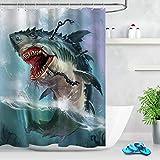 Ocean Shark Monster Badezimmer Duschvorhang