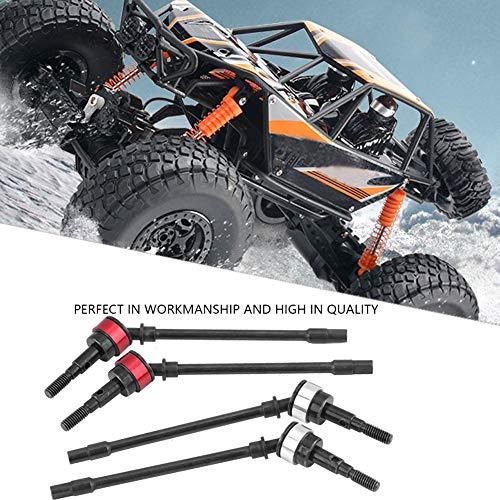 Dilwe 4 Stücke RC Auto Antriebswelle, Metall Hundeknochen CVD Antriebswelle für SCX10 RC Crawler RC Auto Teil Ersatzteile Zubehör