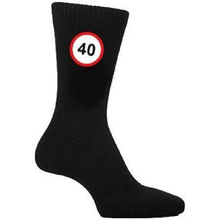 40 MPH Speed Sign Design Mens Black Socks