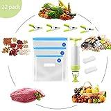 SPECOOL Sottovuoto per Alimenti, 15 Sacchetti Sottovuoto per Alimenti BPA Free Sottovuoto per Alimenti Professionale Manualmente-Riutilizzabili e Pratici per Riporre e Cuocere Alimenti