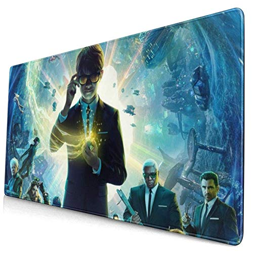 Extended Gaming Mouse Pad Arte-mis Fo-wl XXL Mouse Mat Stitched Edges Non-Slip Rubber Base Smooth Surface Keyboard Mat 800X300X3 mm