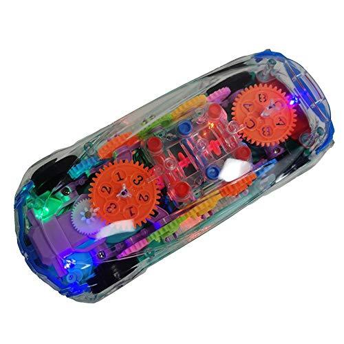 primrosely Spielzeugautos Elektrische Autos Für Kinder LED-Licht Musik Transparente Schale Mechanisches Getriebe Neues Konzept Sportwagen Elektrischer Rennwagen Elektroautos Für Kinder