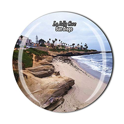 Time Traveler Go Imán de nevera 3D de La Jolla Cove San Diego de Estados Unidos, regalo de recuerdo para el hogar y la cocina