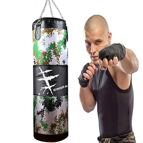GYPPG Box-Training Boxsack, Camouflage Canvas Hollow Sand Bag, Fitness-Training Sand Bag, MMA-100 cm Martial Arts Taekwondo Sand Bag