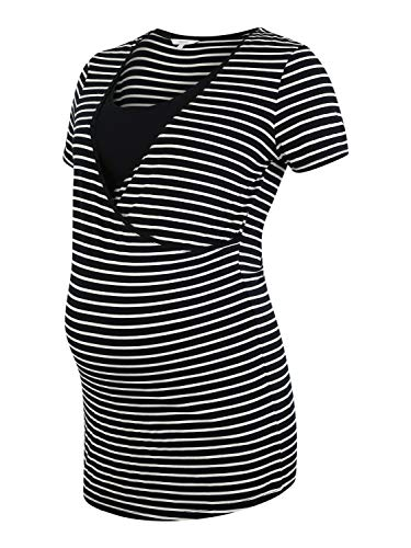 Noppies tee Nurs SS Yd Paris Camiseta premamá, Multicolor (Night Sky Stripe P289), 42 (Talla del Fabricante: Large) para Mujer