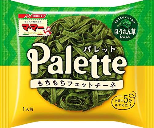 スマートマットライト マ・マー Palette フェットチーネ ほうれん草粉末入り(簡単パスタ、小鍋で5分のもちもち食感)80g ×10袋