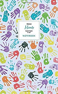 Handy Notebook - Ruled Pages - 5x8 - Premium: (Blue Edition) Fun notebook 96 ruled/lined pages (5x8 inches / 12.7x20.3cm /...