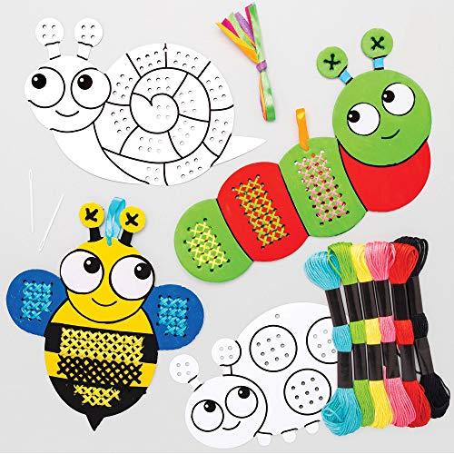 Baker Ross AT619 - Kits de Punto de Cruz Insectos para Colorear - una Introducción al...